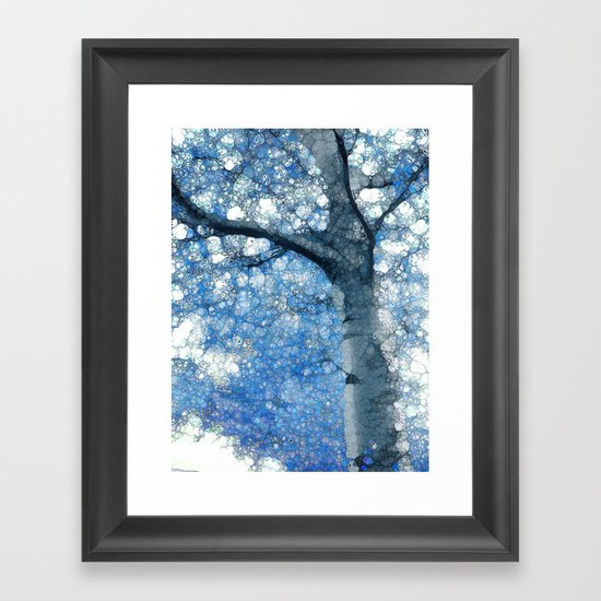 Magic Blue Tree Framed Art Print
