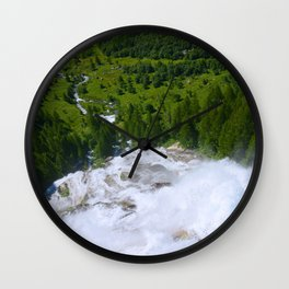 Over the Rushing Waters Wall Clock