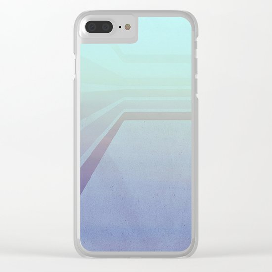 Horizontal flight (Blue edition) Clear iPhone Case