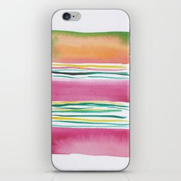 4  |181026 Lines & Color Block | Watercolor Abstract | Modern Watercolor Art iPhone Skin
