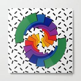 Rainbow Slices Metal Print