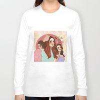 lana Long Sleeve T-shirts featuring Lana by Clementine Petrova