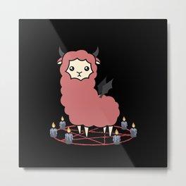 Llama demon Metal Print