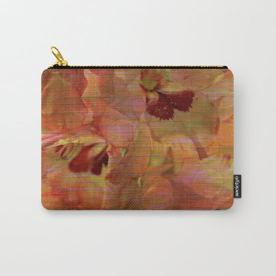 Vintage Soft Peach Glow Gladiola Abstract Carry-All Pouch