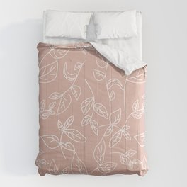 Linear leaves in Blush Comforters
