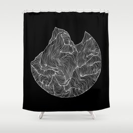 Inverted Crevice Shower Curtain