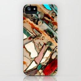 Abstract Mirror Button Baltimore Mosaic Print iPhone Case