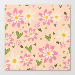 Faye's Flowers Canvas Print