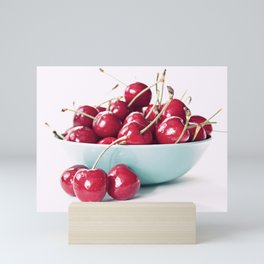 Bowl of Cherries Mini Art Print