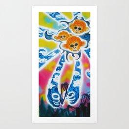 Three Monkeys Art Print