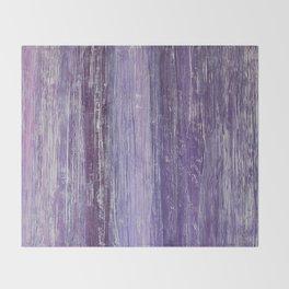 Purple Woodland Throw Blanket