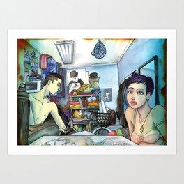 Morning Blues Art Print