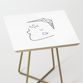 Mental face Side Table