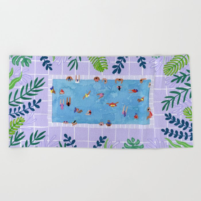 Purpool Beach Towel