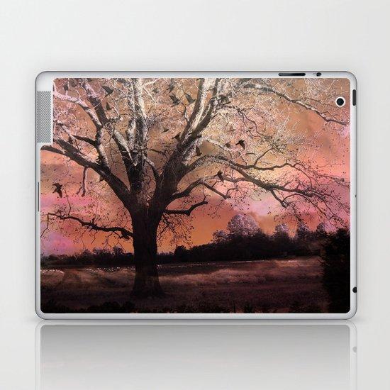 Surreal Trees Ravens Landscape  Laptop & iPad Skin