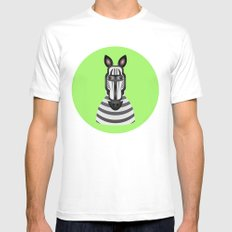Zebra Mens Fitted Tee White MEDIUM