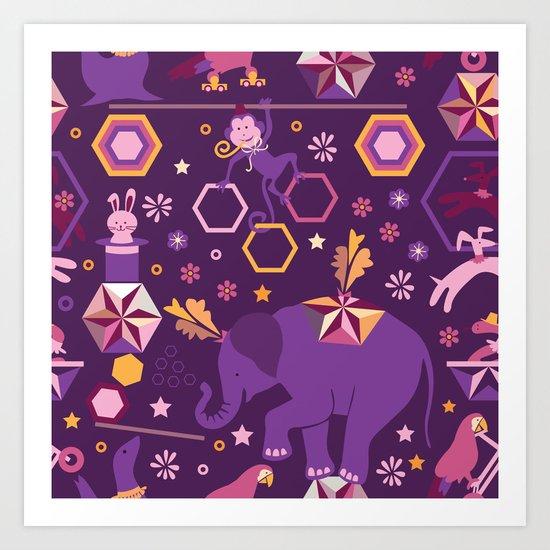 Hexagon circus Art Print