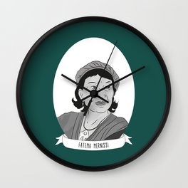 Fatema Mernissi Illustrated Portrait Wall Clock