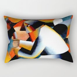 Malevich Woodcutter 1912 Artwork for Wall Art, Prints, Posters, Tshirts, Men, Women, Youth Rectangular Pillow