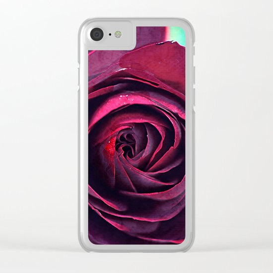 Vintage roses(5). Clear iPhone Case