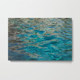 Beautiful Clear Water Blue Sea Metal Print