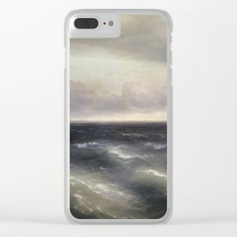 The Black Sea by Ivan Aivazovsky. Clear iPhone Case