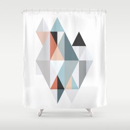 Geometric Facets 2 Shower Curtain