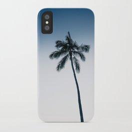 palm tree ver.navy iPhone Case