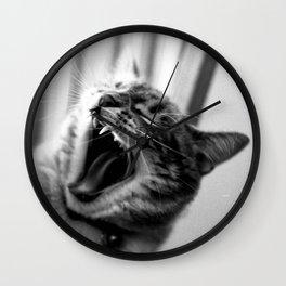 The Ferocious Yawn Wall Clock