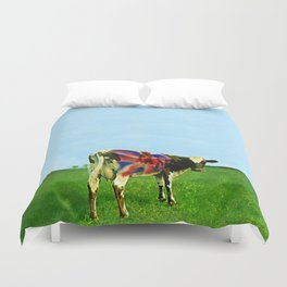 Atom Cow Duvet Cover