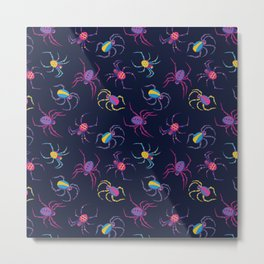 Cute Spider PATTERN Metal Print