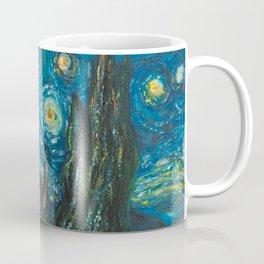 Modern interpretation of Vincent Van Gogh's scene of The Starry Night. Coffee Mug