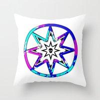 death star Throw Pillows featuring Death Star by Sabrina