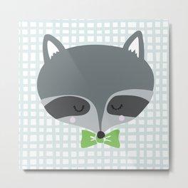 Mr. Raccoon Metal Print