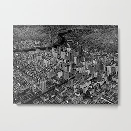 Philadelphia in BW Metal Print