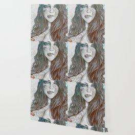U-Turn: Rainbow (mandala tattooed woman, drawing portrait) Wallpaper