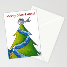 A Great White Christmas Stationery Cards