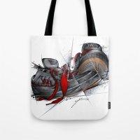 vans Tote Bags featuring VANS by alexviveros.net