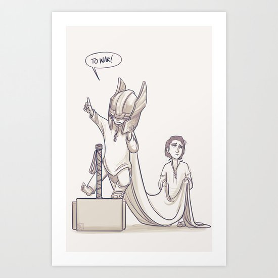 Doth Mother Know You Weareth Her Drapes? Art Print