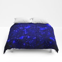 Dark Matter Galaxy Blue Comforters