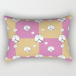 Symbol Peace Drawing Checked Pattern Rectangular Pillow