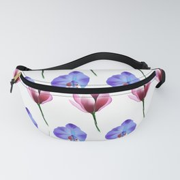 magnolia & butterfly pea flower print Fanny Pack