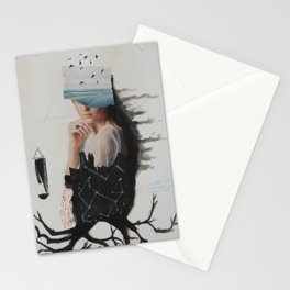 sea,costellation,tree Stationery Cards