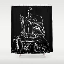 The Hunter B&W(flip) Shower Curtain
