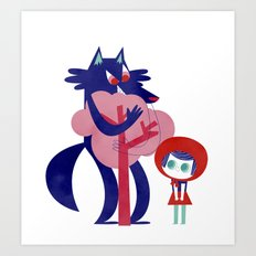 Red Riding Hood - tricolor version Art Print