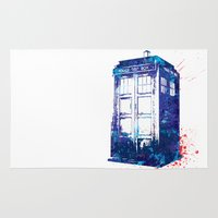 tardis Area & Throw Rugs featuring Tardis by lauramaahs