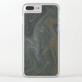 Winter Green Vortex Clear iPhone Case