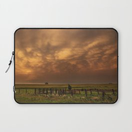 Afterglow - Clouds Glow After Storms at Sunset Laptop Sleeve