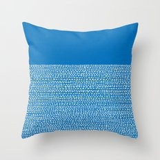Riverside - Dazzling Blue Throw Pillow