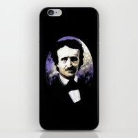 edgar allan poe iPhone & iPod Skins featuring Edgar Allan Poe by Rouble Rust